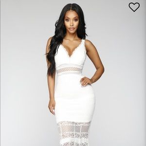 XS Bianca Lace Dress - Ivory